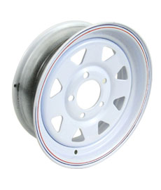 painted trailer wheel
